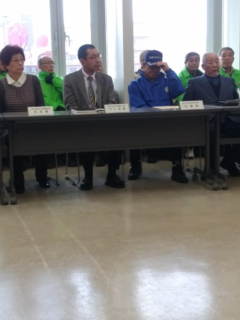 里美町連大形会長・佐藤防災・防犯部長・交通安全母の会長南会長